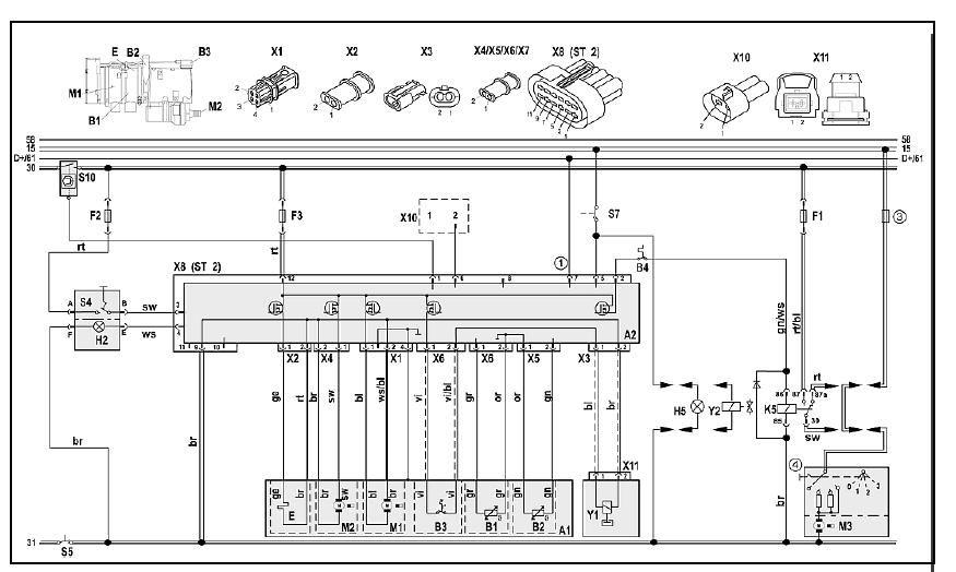 Электросхема Thermo 90SТ, 12 и 24 В, со стандартным таймером