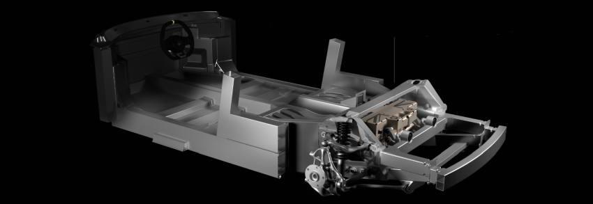 Модификация с батареей под полом. При той же базе в 2650 мм, что и у предыдущего варианта, салон уже с посадочной схемой 2+2.